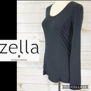 Zella by Nordstrom black long sleeve tee size S